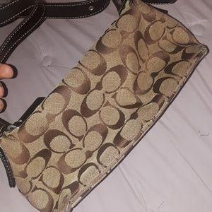 Authentic tan coach handbag